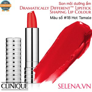 Son môi dưỡng ẩm Clinique Dramatically Different Lipstick #18 Hot Tamale