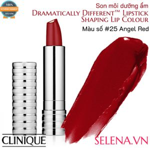 Son môi dưỡng ẩm Clinique Dramatically Different Lipstick #25 Angel Red