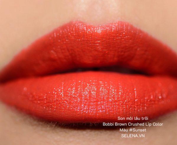 Son môi lâu trôi Bobbi Brown Crushed Lip Color #Sunset