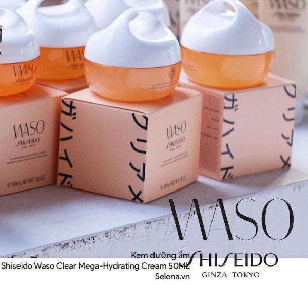 Kem dưỡng ẩm Shiseido Waso Clear Mega-Hydrating Cream 50ML