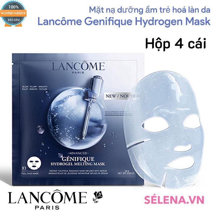 Mặt nạ dưỡng ẩm trẻ hoá làn da Lancôme Genifique Hydrogen Mask( hộp 4 cái)