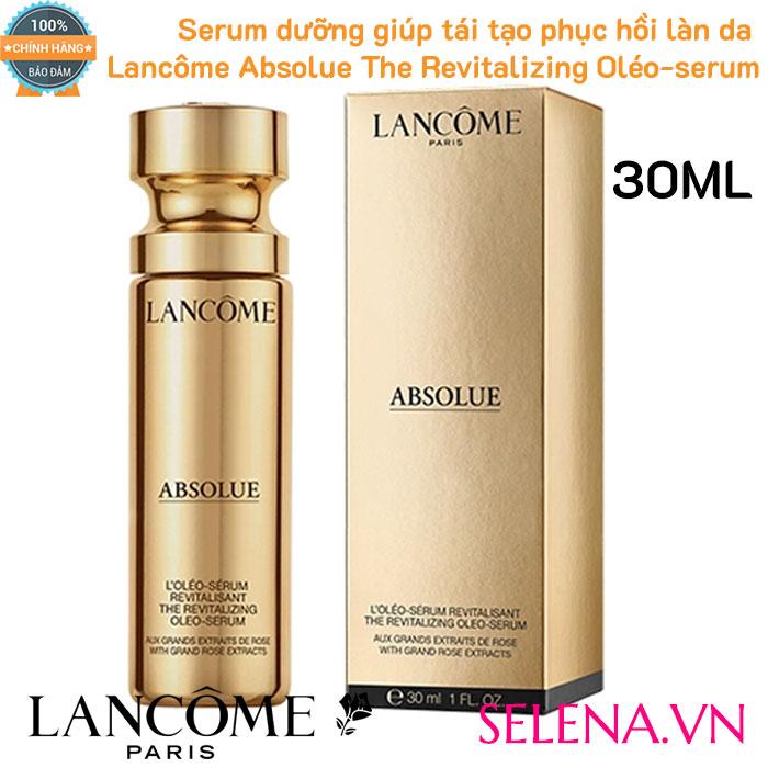 Serum cao cấp Lancôme tái tạo phục hồi da dưỡng ẩm chống lại các dấu hiệu lão hóa và cho làn da săn chắc, mềm mại và rạng rỡ hơn, đầy đặn với độ ẩm