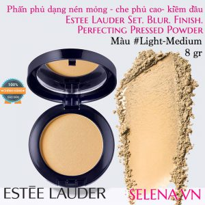 Phấn phủ dạng nén Estée Lauder Perfecting Pressed Powder #Light-Medium