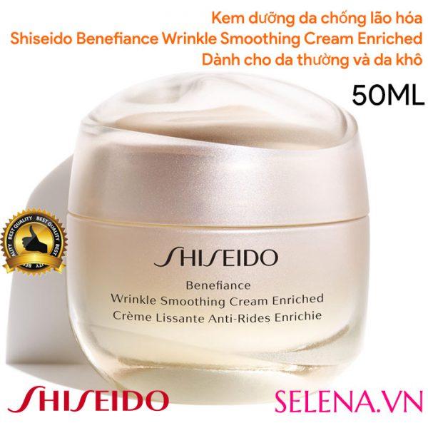Kem dưỡng chống lão hóa Shiseido Benefiance Wrinkle Smoothing Enriched 50ml