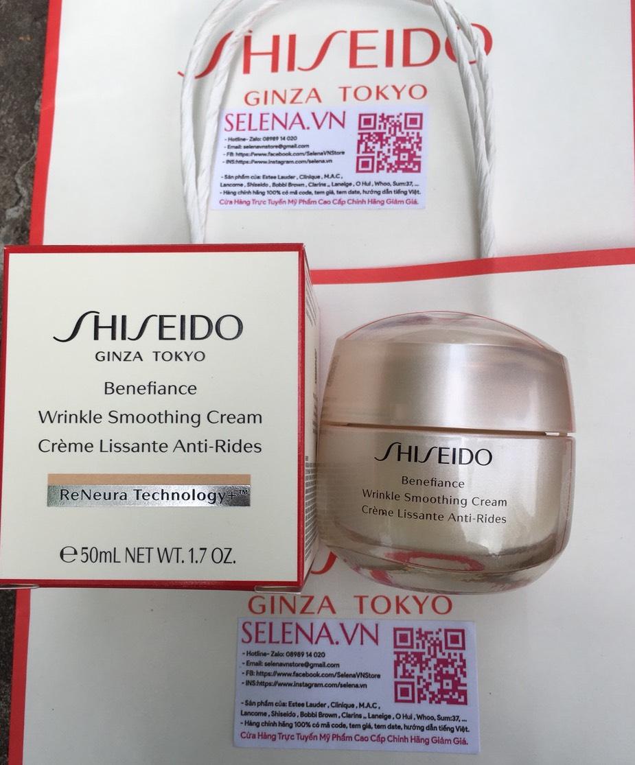 Shiseido Benefiance Wrinkle Smoothing chính hãng tại Selena.vn
