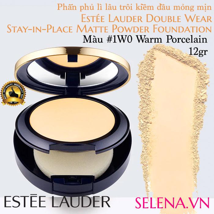 Phấn phủ lì Estee Lauder Double Wear Matte Powder #1W0 Warm Porcelain