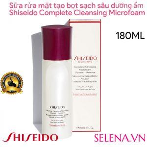 Sữa rửa mặt tạo bọt Shiseido Complete Cleansing Microfoam 180ml