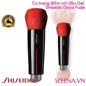 Cọ trang điểm mặt với một đầu gel Shiseido Daiya Fude Face Duo Brush