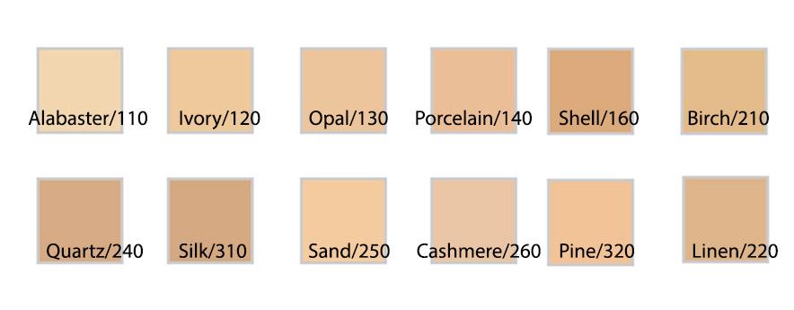 Bảng màu Kem nền Shiseido Synchro Skin Self-refreshing Foundation