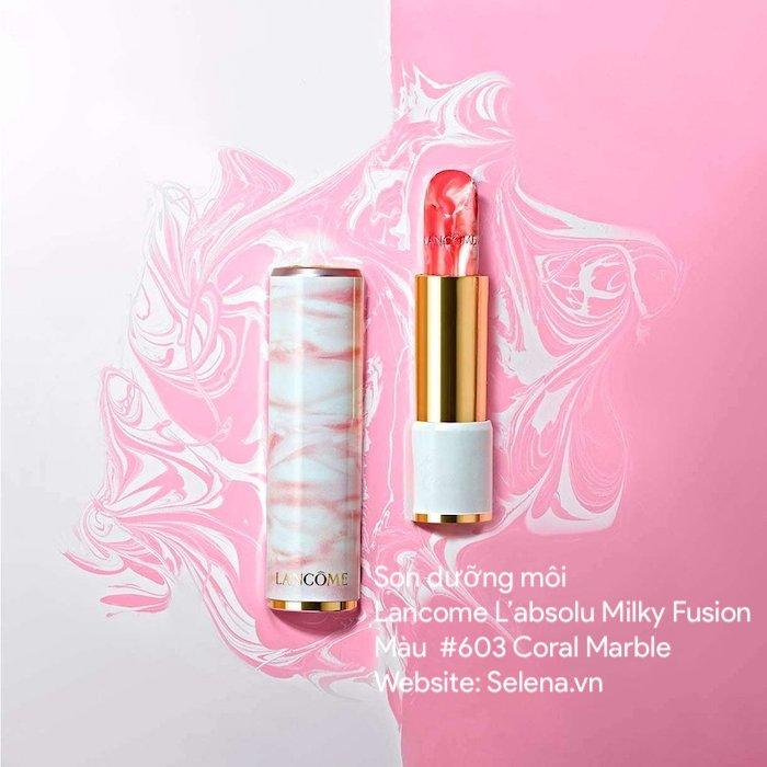 Son dưỡng môi Lancome L'absolu Milky Fusion #603 Coral Marble