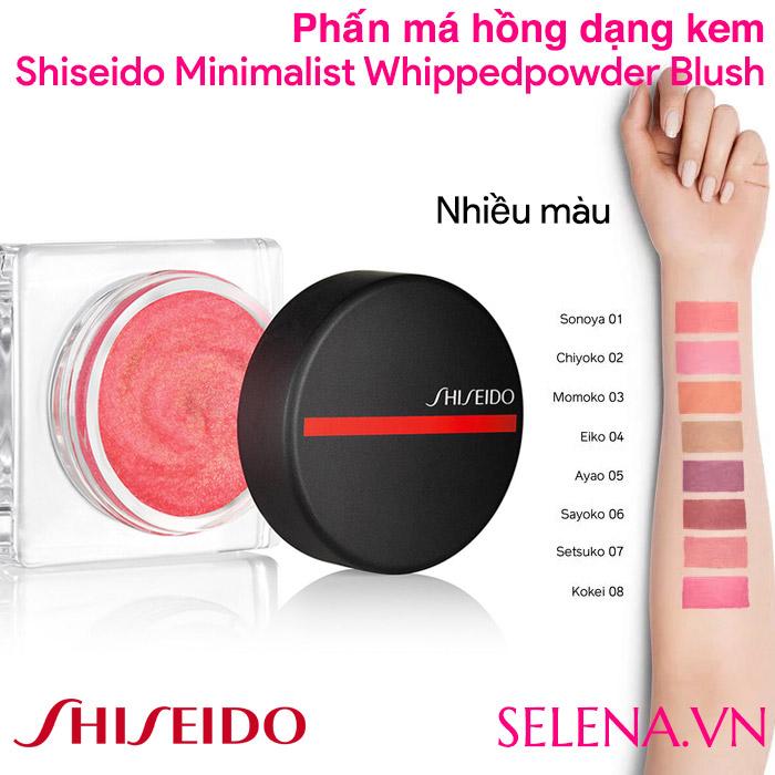 Phấn má hồng Shiseido Minimalist Whippedpowder Blush dạng kem 5gr