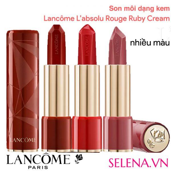 Son môi dạng kem Lancôme L'absolu Rouge Ruby Cream