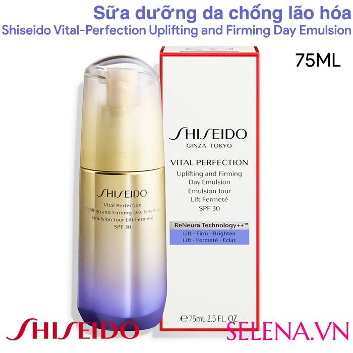 Sữa dưỡng da chống lão hóa Shiseido Vital-Perfection Uplifting and Firming Day Emulsion