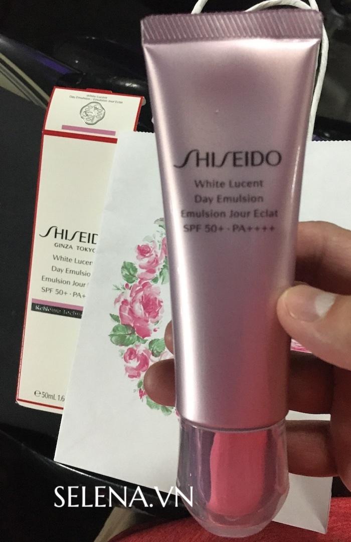 Hình thực tế kem dưỡng trắng da Shiseido White Lucent chính hãng của Nhật Bản