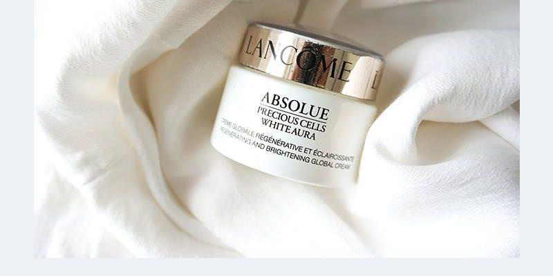 [Review] Lancome Absolue Precious Cells White Aura một loại siêu phẩm dưỡng da Cao Cấp của nhà Lancôme tác dụng dưỡng trắng sáng da đều màu, ngăn ngừa thâm nám.