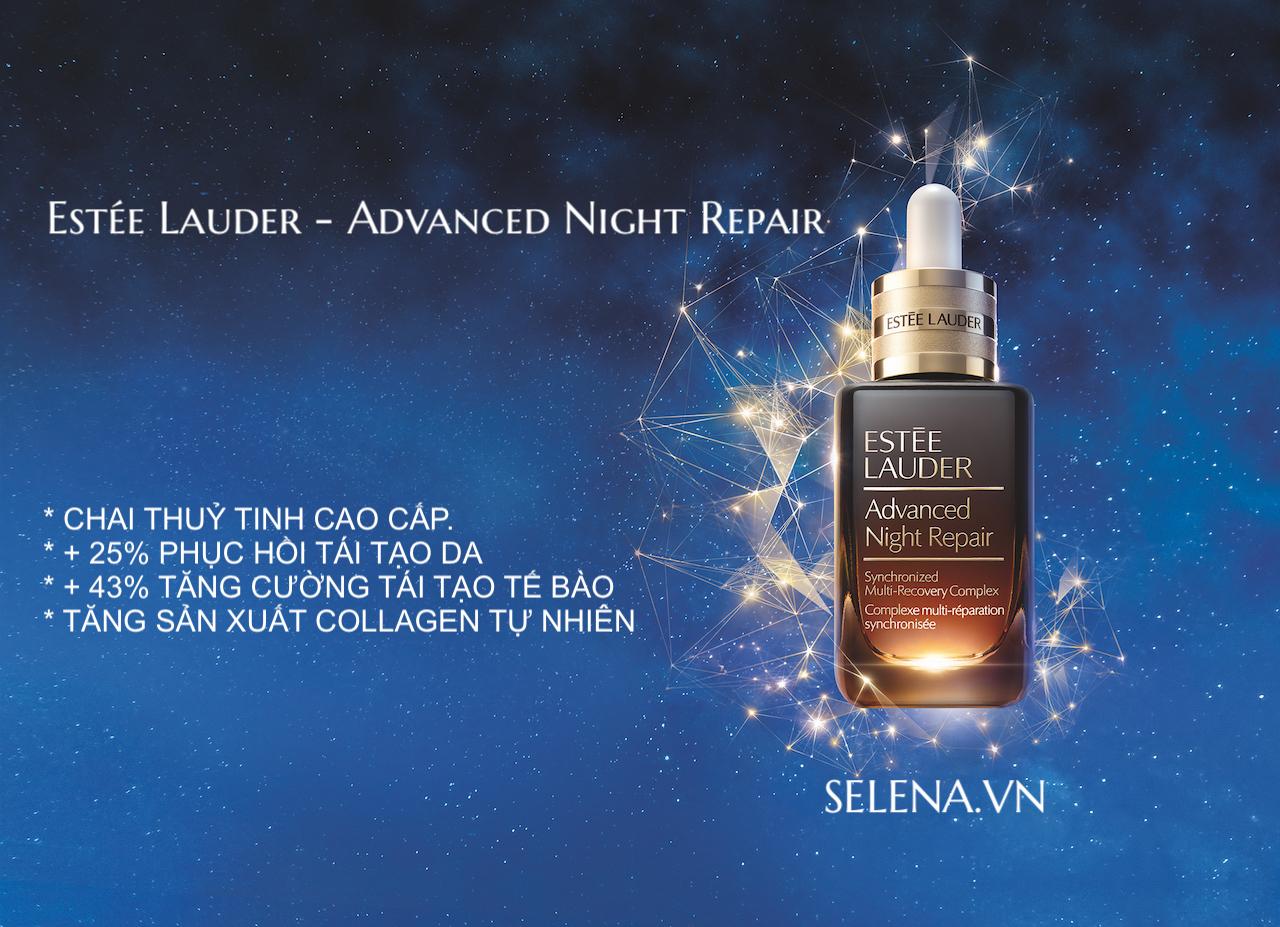 Serum Advanced Night Repair phiên bản mới 2020 được đựng trong chai thuỷ tinh cao cấp, có thể tái chế để bảo vệ môi trường.