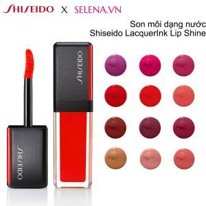 Son môi dạng nước Shiseido LacquerInk Lip Shine sắc tố màu cường độ cao kết hợp cùng độ sáng bóng ở loại son nước này chính là yếu tố giúp đôi môi luôn căng mọng, đầy sức sống. Công thức lông chải không bao giờ khiến môi bị khô hay dính.