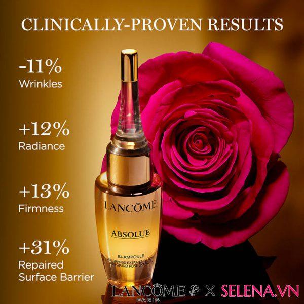 Tinh chất vàng cao cấp Lancôme Absolue Overnight Repairing Bi-ampoule Serum điều trị chống lão hóa tập trung, phục hồi và nuôi dưỡng da.