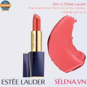 Son Lì Estee Lauder Pure Color Envy Matte Sculpting Lipstick #208 Blush Crush