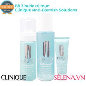 Bộ 3 bước liệu pháp trị mụn Clinique Anti-Blemish Solutions