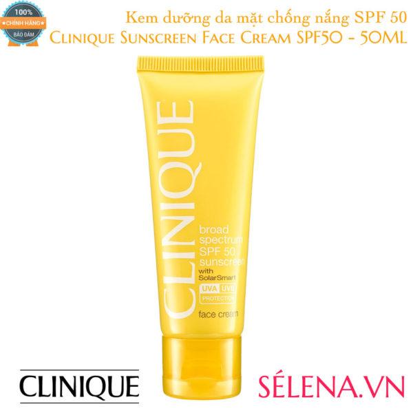 Kem Chống Nắng Clinique Sunscreen Face Cream SPF50 - 50MLKem Chống Nắng Clinique Sunscreen Face Cream SPF50 - 50ML