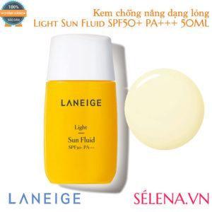 Kem chống nắng dạng lỏng LANEIGE Light Sun Fluid SPF50+ 50ml