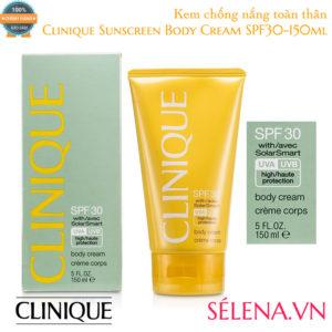 Kem chống nắng toàn thân Clinique Sunscreen Body Cream SPF30-150ml