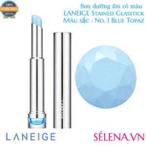 Son dưỡng ẩm có màu LANEIGE Stained Glasstick #1 Blue Topaz