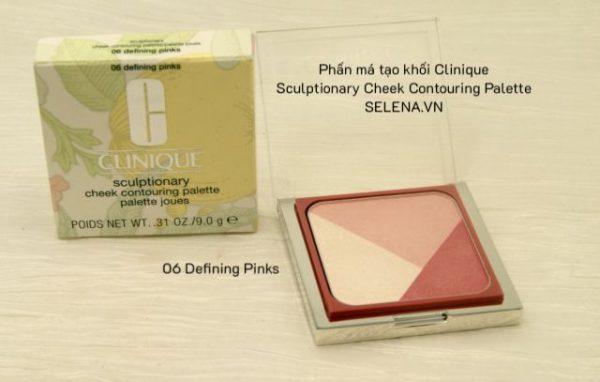 Phấn má tạo khối Clinique Sculptionary Cheek Contouring Palette 06 Defining Pinks