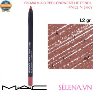 Chì Môi Mac Pro Longwear Lip Pencil 1.2g màu #Nice N Spicy