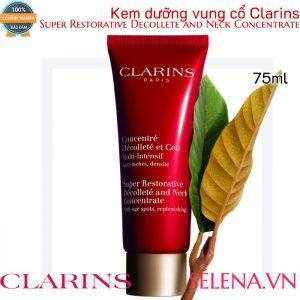 Kem dưỡng vùng cổ Clarins Super Restorative Decollete and Neck Concentrate 75ml