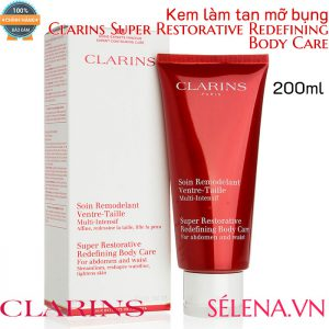 Kem làm tan mỡ bụng Clarins super restorative redefining body care 200ml