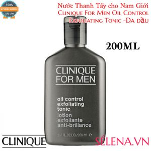 Nước thanh tẩy da dầu Clinique for Men Oil Control Exfoliating Tonic
