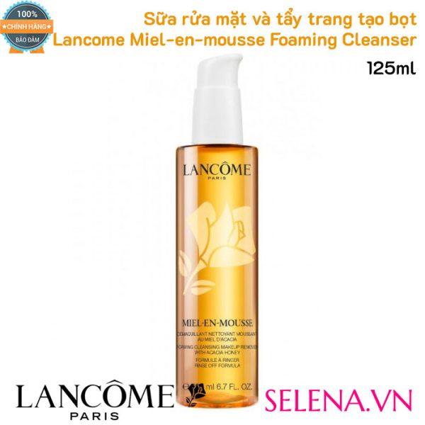 Sữa rửa mặt tẩy trang Lancôme Miel-en-mousse Foaming Cleanser 125ml