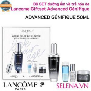 Bộ SET dưỡng ẩm và trẻ hóa da Lancome Giftset Advanced Génifique 50ml