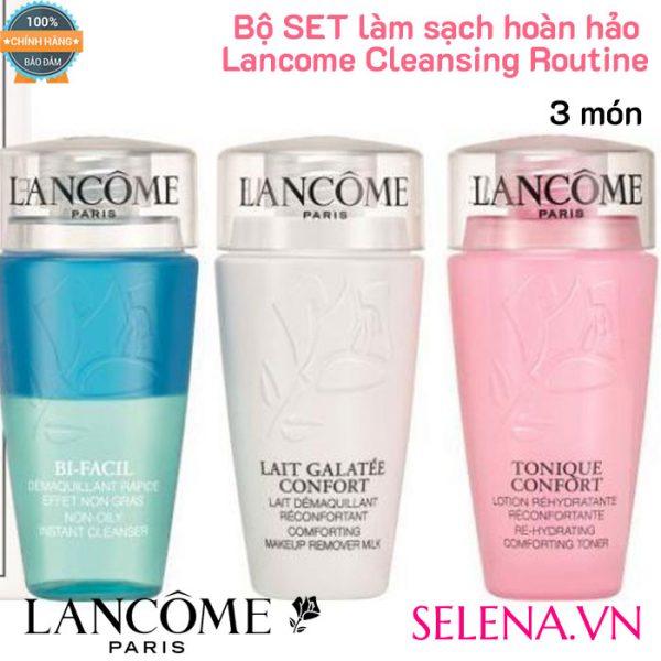 Bộ SET làm sạch hoàn hảo Lancome Cleansing Routine (3 món)