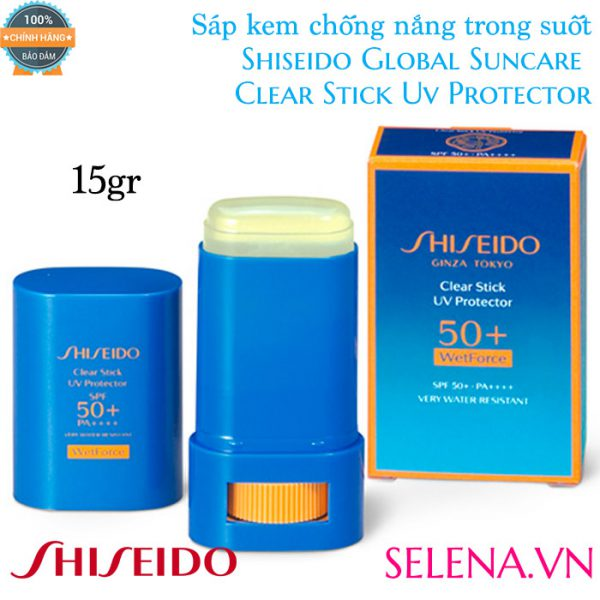 Sáp kem chống nắng Shiseido Global Suncare Clear Stick UV Protector 15g