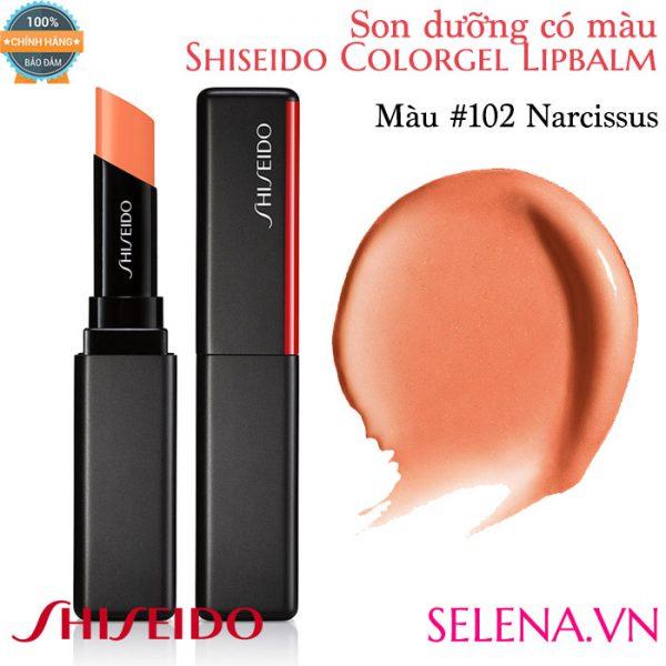 Son dưỡng màu đẹp Shiseido Colorgel Lipbalm #102 Narcissus