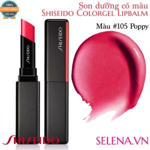 Son dưỡng màu đẹp Shiseido Colorgel Lipbalm #105 PoppySon dưỡng màu đẹp Shiseido Colorgel Lipbalm #105 Poppy