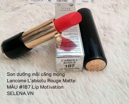 Son dưỡng môi căng mọng Lancome L'absolu Rouge Matte #187 Lip Motivation
