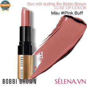 Son môi dưỡng ẩm Bobbi Brown Luxe Lip Color #Pink Buff