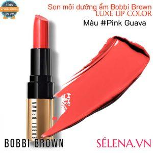 Son môi dưỡng ẩm Bobbi Brown Luxe Lip Color #Pink Guava