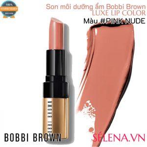 Son môi dưỡng ẩm Bobbi Brown Luxe Lip Color #Pink Nude