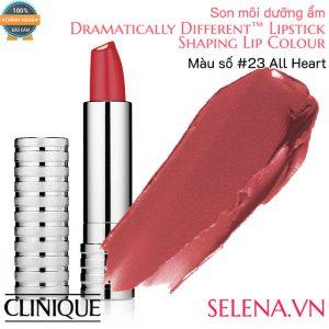 Son môi dưỡng ẩm Clinique Dramatically Different Lipstick #23 All Heart