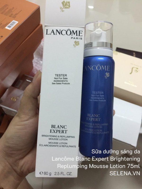 Sữa dưỡng sáng da Lancôme Blanc Expert Brightening Replumping Mousse Lotion 75ml