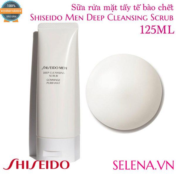 Sữa rửa mặt tẩy tế bào chết Shiseido Men Deep Cleansing Scrub 125ml