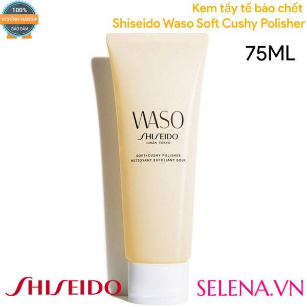 Kem tẩy tế bào chết Shiseido Waso Soft Cushy Polisher 75ML