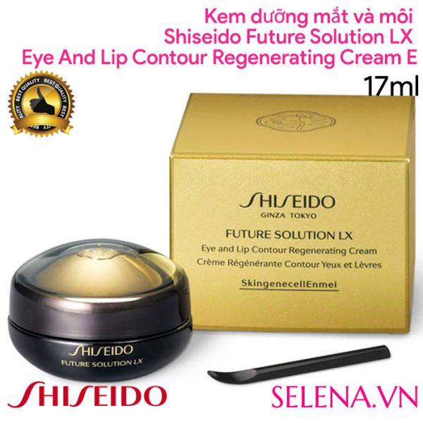 Kem dưỡng mắt và môi Shiseido Future Solution Lx Eye And Lip Contour Regenerating Cream E 17ml