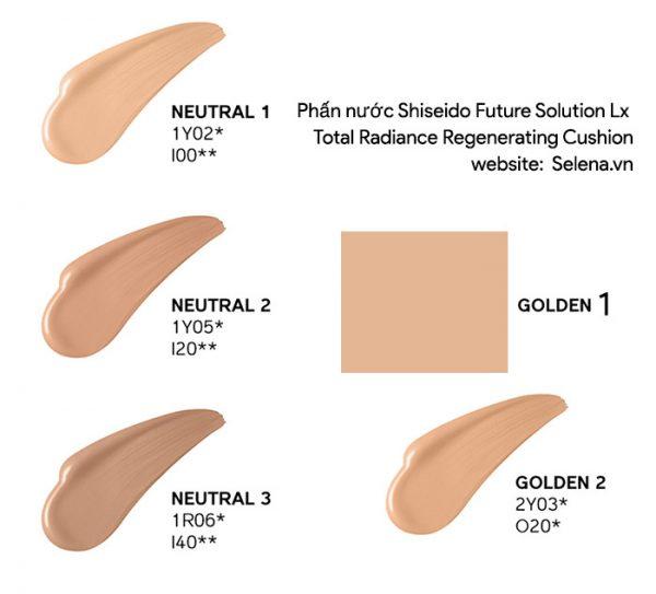 Phấn nước Shiseido Future Solution Lx Total Radiance Regenerating Cushion
