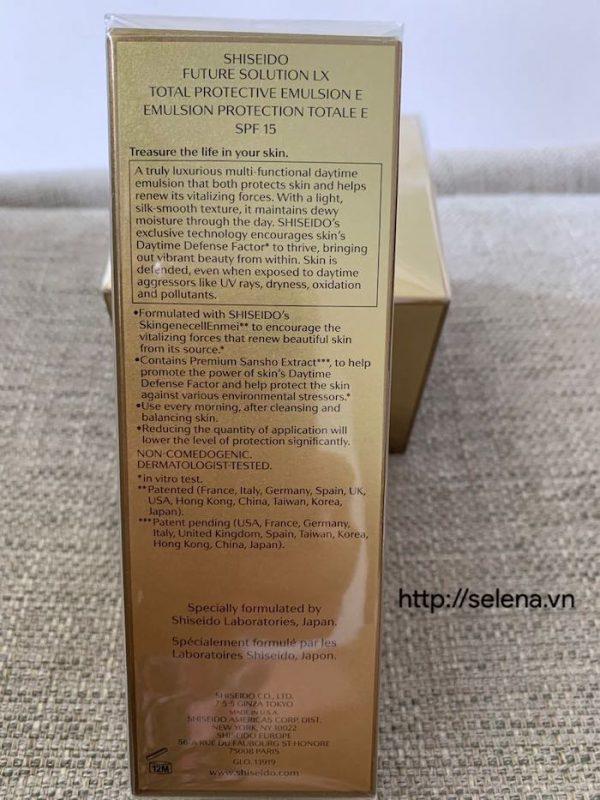 Sữa dưỡng ban ngày Shiseido Future Solution Lx Total Protective Emulsion E 75ml